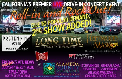 """California's Premier """"Live"""" Drive-in Concert Event - Alameda County Fairgrounds - July 25, 2020"""